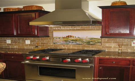 kitchen tile murals kitchen backsplash ideas with oak
