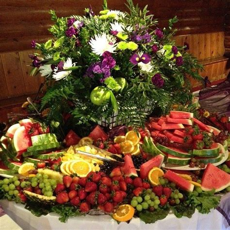 wedding fruit table display fruit displays