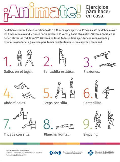 ejercicios de para hacer en casa ejercicios para hacer en casa ministerio de salud