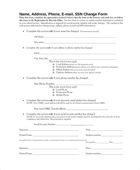 Social Security Office Address by Sle Social Security Change Of Address 7 Exles In Pdf