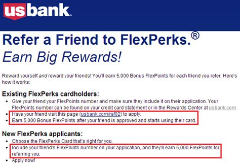 Us Bank Credit Letter Refer A Friend Flexperks Credit Card Email