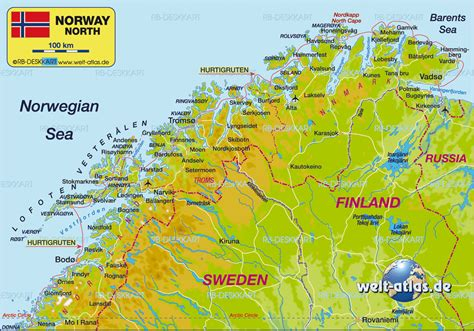 karten de karte nordnorwegen region in norwegen welt atlas de