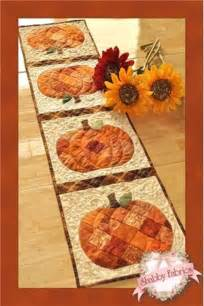 patchwork pumpkin table runner shabby fabrics table