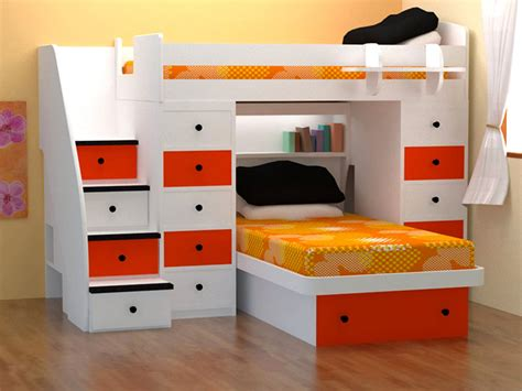 space saver bed space saver bed with white red tone combine single orange