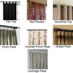 curtain top types diy tab curtains
