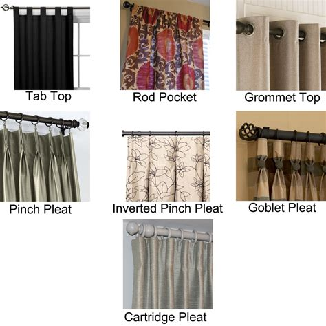 types of curtains different types different types curtain rods