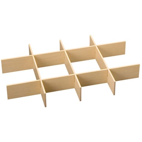 Drawer Divider by Freedomrail O Box Wood Drawer Dividers Maple In