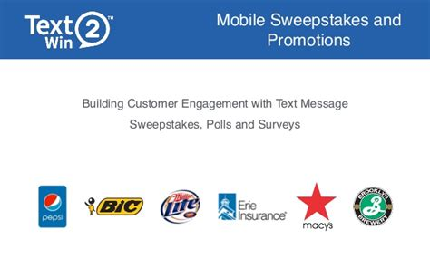 Sweepstakes Text To Win - text to win marketing