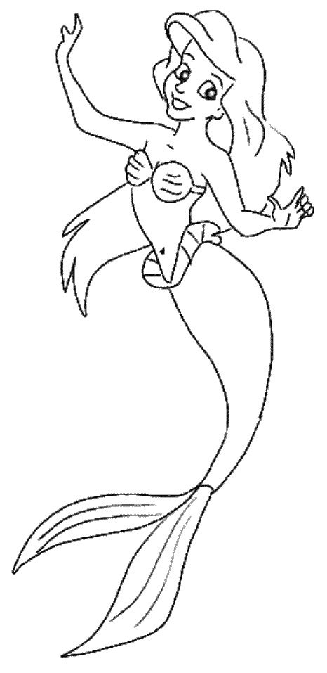 Little Mermaid Fish Coloring Coloring Pages Mermaid Coloring Pages Disney
