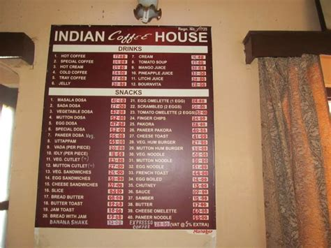 india house menu menu picture of indian coffee house shimla tripadvisor