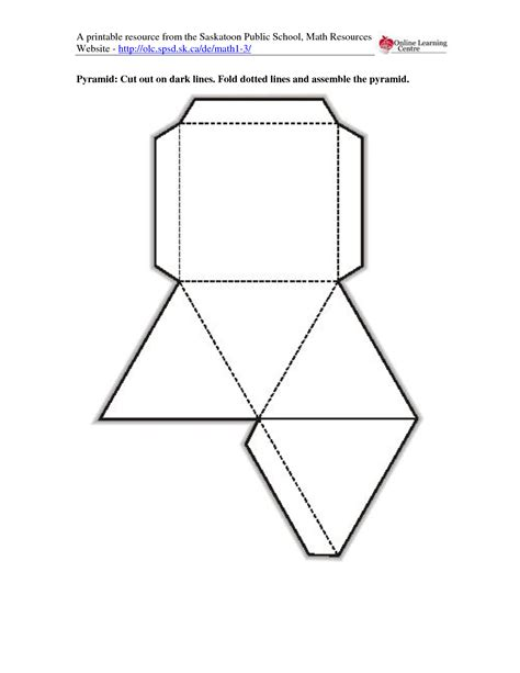 How To Make A 3d Rectangle Out Of Paper - 5 best images of 3d rectangle template printable cut out