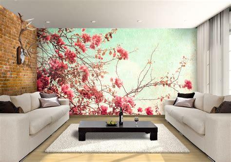 wallpaper flower murals spring flowers custom wallpaper mural print by jw