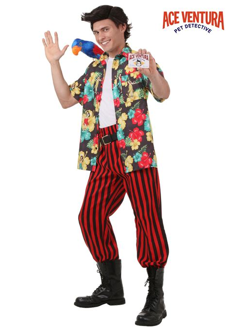 Best Halloween Home Decorations by Ace Ventura Costume With Wig