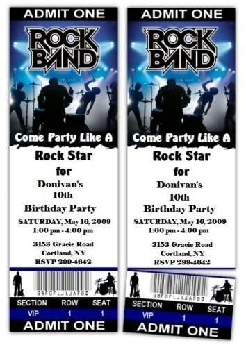 rock band party ideas rock bands rockstar birthday party