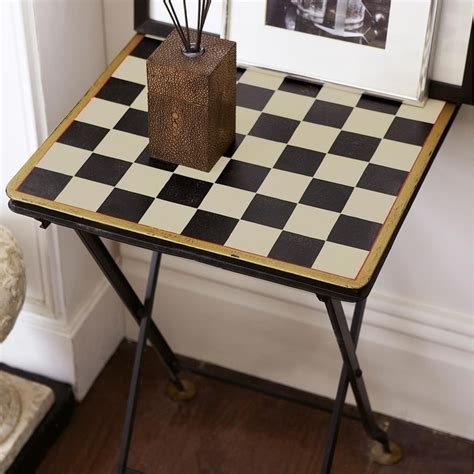 Small Card Table by Folding Checkered Card Table Small Black