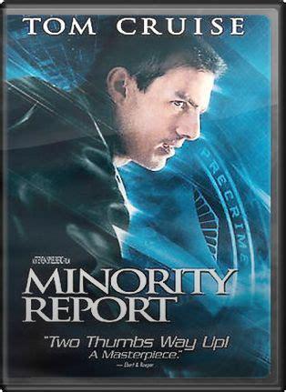 minority report blu ray review steven spielberg tom cruise minority report dvd 2002 directed by steven spielberg