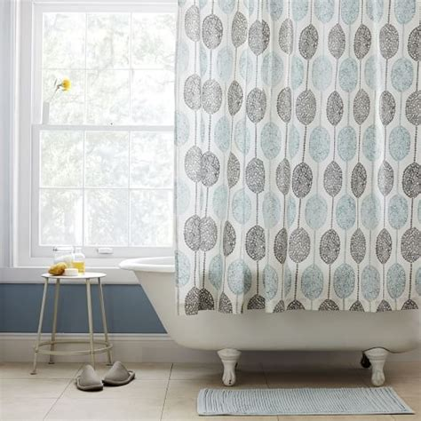 West Elm Medallion Shower Curtain Decor Dot Medallion Shower Curtain West Elm