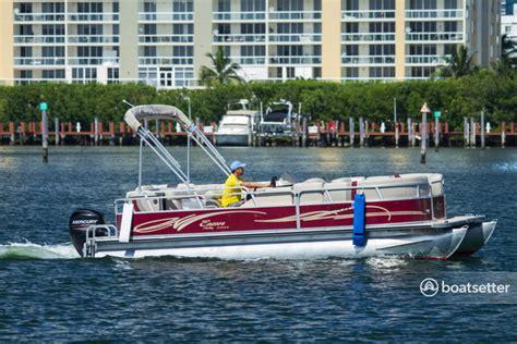 miami beach pontoon boat rental miami beach fl rent a 24 quot bentley pontoon boat in north miami beach fl