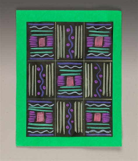 pattern art projects elementary african asimevo cloth crayola com