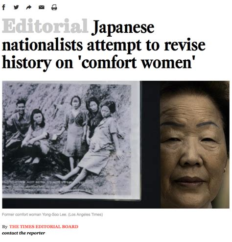 comfort women history la times japanese nationalists attempt to revise history