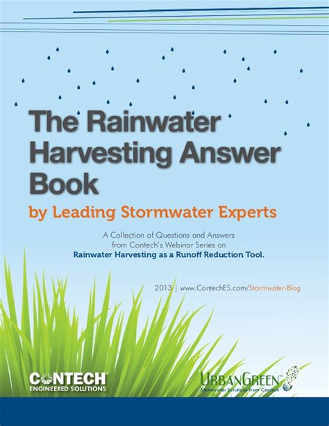 the answers book for rainwater harvesting answer book
