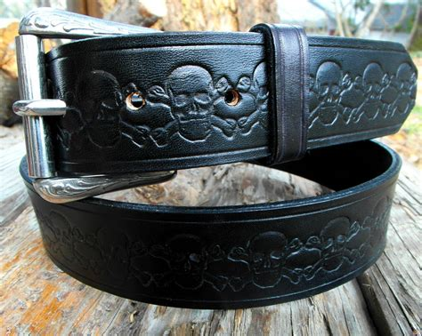Handcrafted Leather Belt - black leather belt custom leather belt s leather