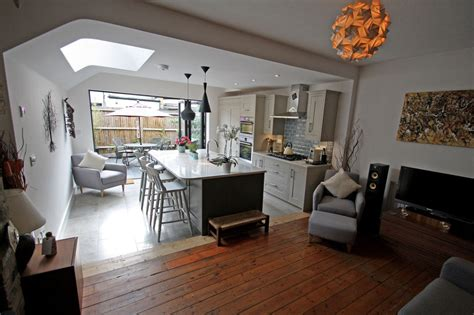 side extension patio amp kitchen refurbishment in
