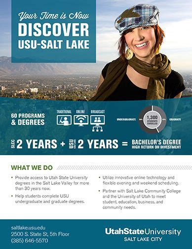flyer design university this flyer from utah state university was found on behance
