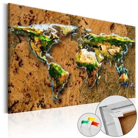 map world jungle tablero de corcho world jungle cork map deko shop