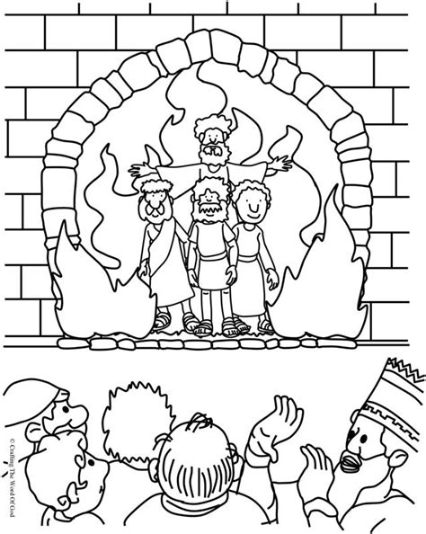 the fiery furnace coloring page 171 crafting the word of god