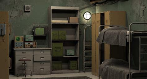 Buker Model 3d room bunker model