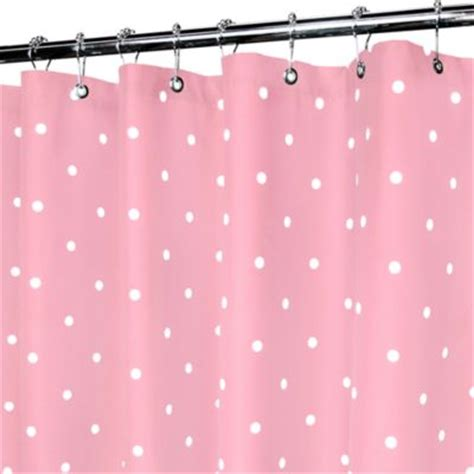 pink and white polka dot shower curtain buy priscilla lace shower curtain in pink from bed bath