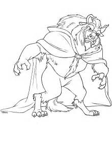 big beast disney beauty and the coloring coloring pages