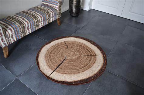 design teppich rund design teppich rund holz baumstamm 100 cm baumscheibe hr 4
