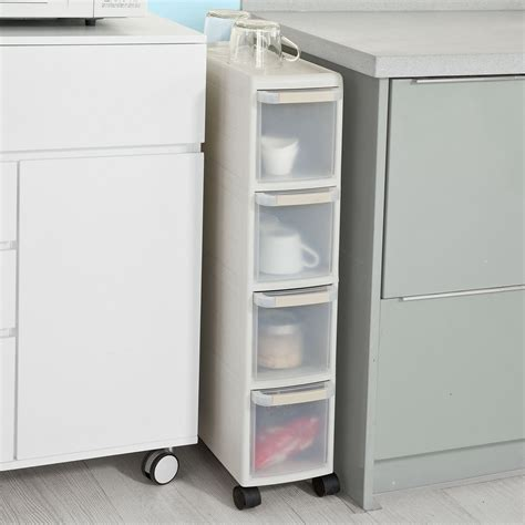 Cabinet Drawers That Slide Sobuy 174 4 Drawers Kitchen Cupboard Bathroom Cabinet Slide