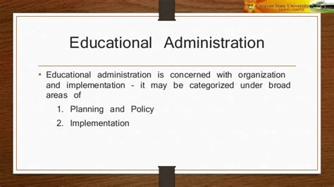 education organization concepts and principles of organization administration