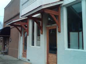 exterior door awning handmade office door awnings by moresun custom woodworking