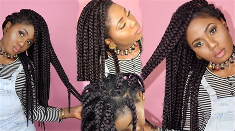 step by step to do jumbo senegalese easy crochet box braids no cornrows individual