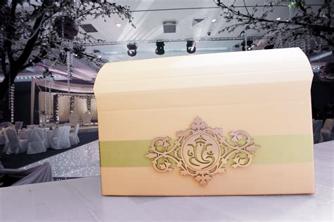 indian wedding card post box indian asian wedding post box for cards with ganeshji wooden embellishment gold favoured wedding