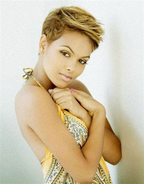 caramel haircolor pixies pixie hairstyles with highlights for black women hair