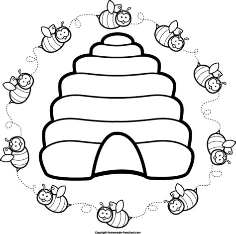hive template clipart beehive cliparts co