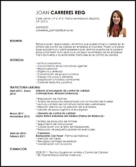 Modelo Curriculum Vitae Joven Modelo Curriculum Vitae Encargado De Calidad Livecareer