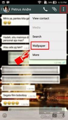 cara ganti wallpaper room chat line cara mengganti background chat whatsapp di android techijau