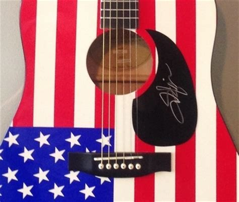 toby keith easy now charitybuzz american flag themed acoustic guitar signed