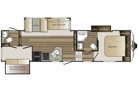 cougar 5th wheel floor plans 2016 cougar 301sab floor plan 5th wheel keystone rv