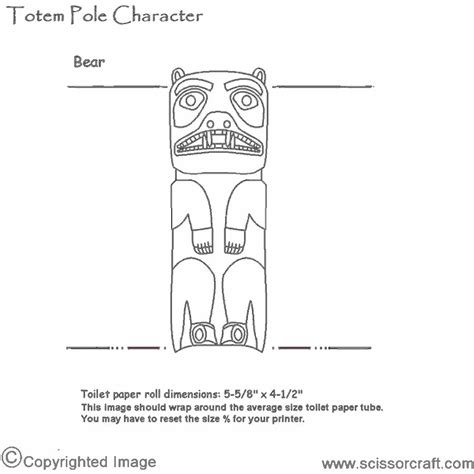totem pole template free coloring pages of totem pole ber