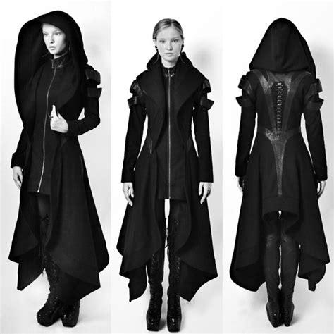 Dress Cardigan Shinobi 2018 coat irregular hooded leather patchwork tops avant coat
