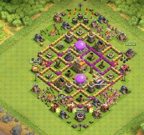 coc level 7 war base ejemplos de buenas aldeas de guerra
