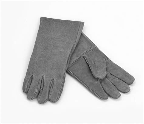 woodfield grey leather fireplace gloves