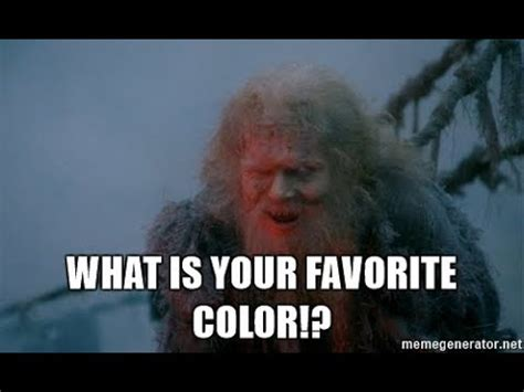 what is your favorite color monty python monty python what is your quest a classroom lecture